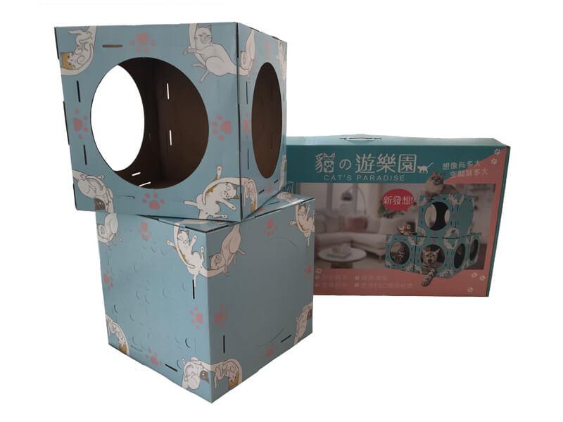 Custom-made corrugated cardboard product